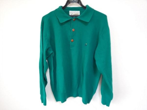 ICEBERG(アイスバーグ) 長袖ポロシャツ サイズ4 XL メンズ グリーン ニット
