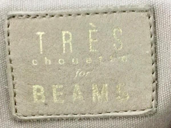 TRES(トレ) トートバッグ ベージュ スタッズ/chouette for BEAMS レザー×金属素材