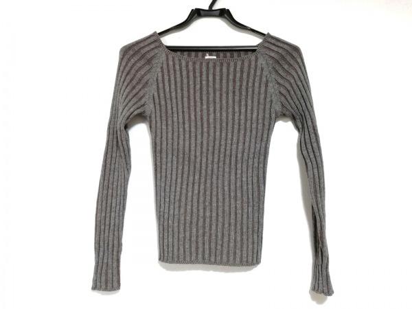 ロンハーマン 長袖セーター サイズXS レディース美品  グレー×ダークブラウン