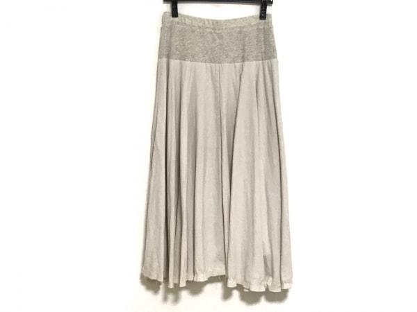 BEARDSLEY(ビアズリー) ロングスカート サイズF レディース アイボリー×ライトグレー