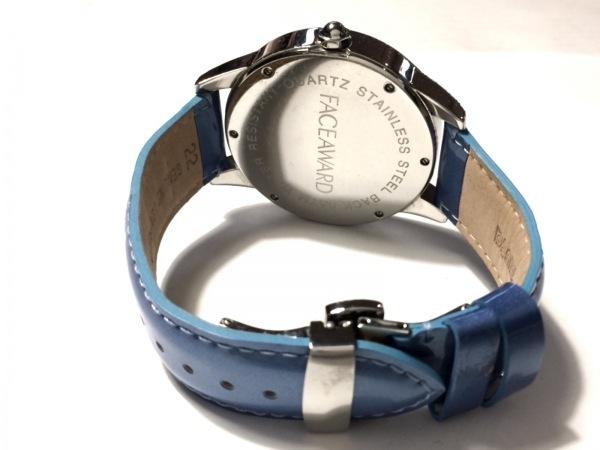 フェイスアワード 腕時計 - レディース ラインストーンベゼル シルバー×ブルー