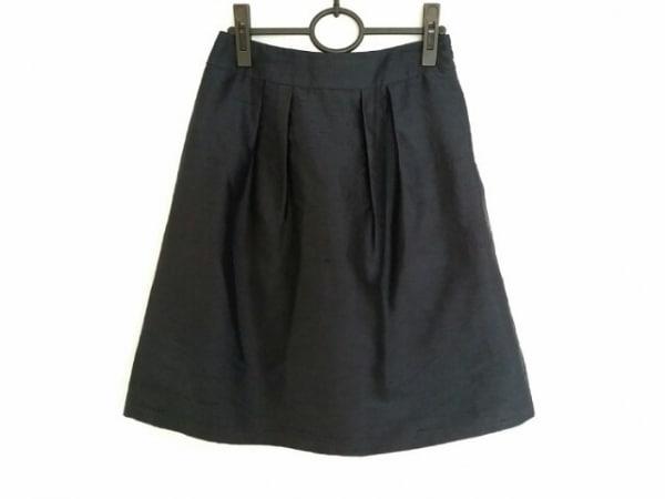 ランバンコレクション スカート サイズ38 M レディース ダークネイビー