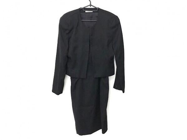 バレンザポー ワンピーススーツ サイズM レディース美品  黒 ラインストーン