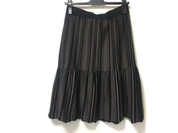 CIVIDINI(チヴィディーニ) スカート サイズ42 M レディース 黒×ベージュ ニット