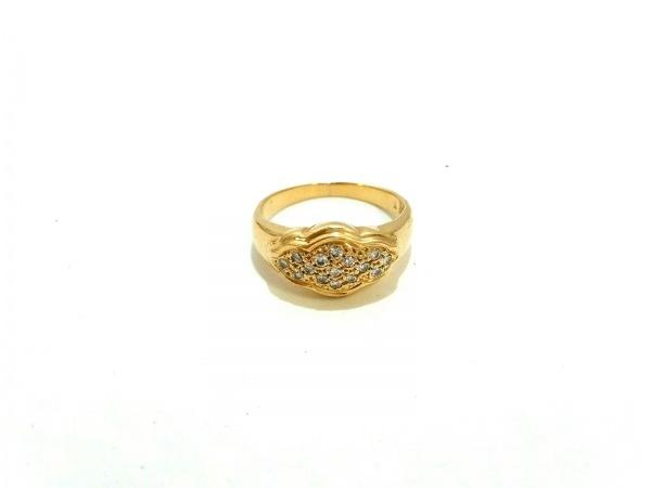 ノーブランド リング美品  K18×ダイヤモンド クリア 総重量:4.3g/015刻印
