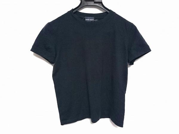 ジョルジオアルマーニクラシコ 半袖Tシャツ サイズI46 L レディース 黒