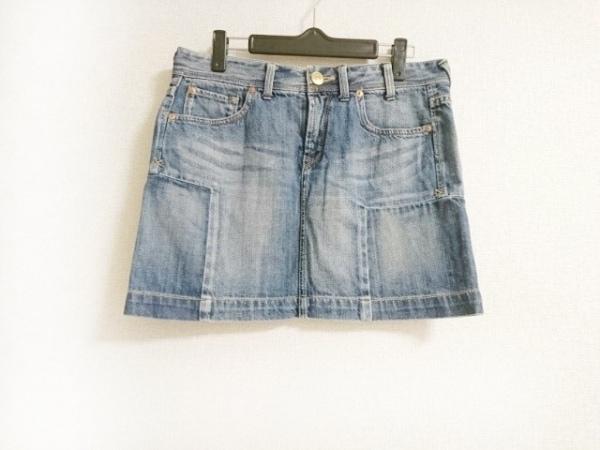 ポールスミス ミニスカート サイズ40 L レディース美品  ブルー ダメージ加工