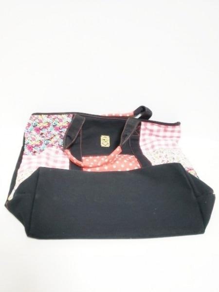 DOLLY GIRL(ドーリーガール) トートバッグ 黒×マルチ キャンバス