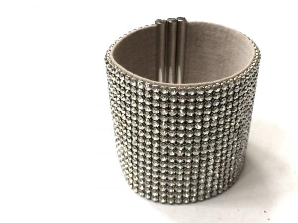 スワロフスキー ブレスレット美品  スワロフスキークリスタル×金属素材 シルバー