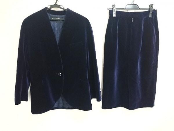 ラピーヌブランシュ スカートスーツ サイズ11 M レディース美品  ダークネイビー