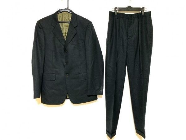 エーエーアールヨウジヤマモト シングルスーツ メンズ 黒 ネーム刺繍