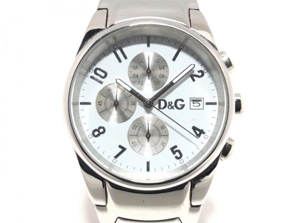 D&G(ディーアンドジー) 腕時計美品  - メンズ クロノグラフ 白