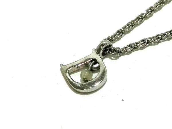 クリスチャンディオール ネックレス美品  金属素材 シルバー Dモチーフ