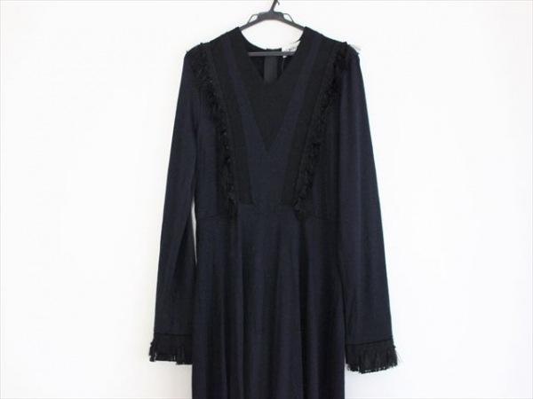 LOKITHO(ロキト) ワンピース レディース美品  黒×ダークネイビー フリンジ
