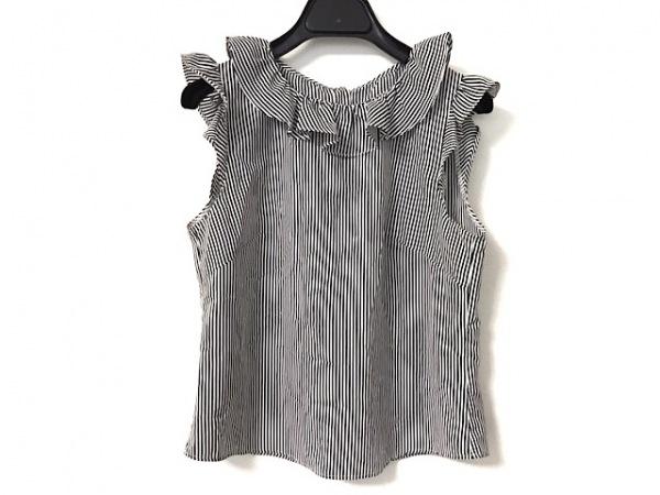 snidel(スナイデル) ノースリーブカットソー サイズF レディース美品  白×黒