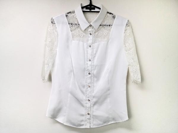 ラブレス 半袖シャツブラウス サイズ36 S レディース美品  白 レース/シースルー