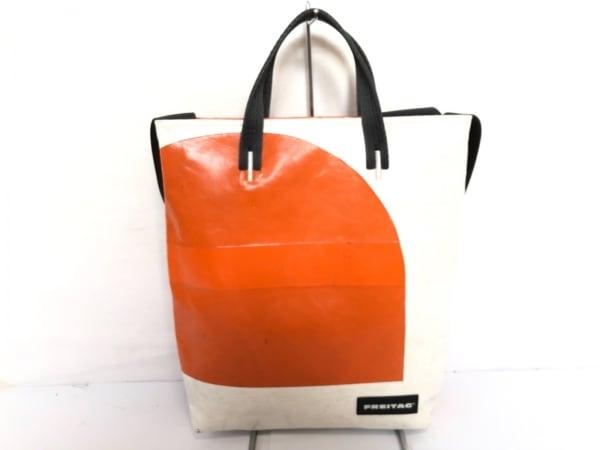 FREITAG(フライターグ) ショルダーバッグ 白×オレンジ×黒 2way PVC(塩化ビニール)