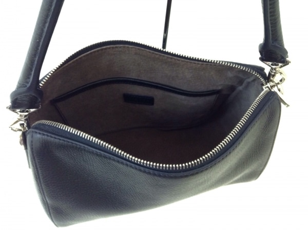 HIROFU(ヒロフ) ハンドバッグ 黒 -ハンドル取り外し可 レザー