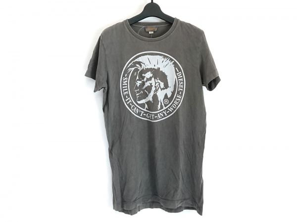 DIESEL(ディーゼル) 半袖Tシャツ サイズM メンズ ダークグレー