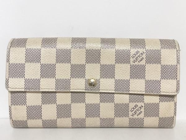 ルイヴィトン 長財布 ダミエ ポルトフォイユ・サラNM2 N61735 アズール
