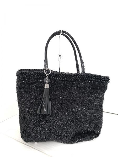 ANTEPRIMA MISTO(アンテプリマミスト) トートバッグ美品  黒 化学繊維×ワイヤー