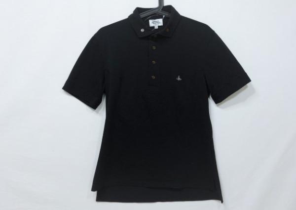 ヴィヴィアンウエストウッドマン 半袖ポロシャツ サイズ46 XL メンズ 黒