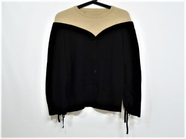 Mila Owen(ミラオーウェン) 長袖セーター サイズ1 S レディース 黒×ベージュ