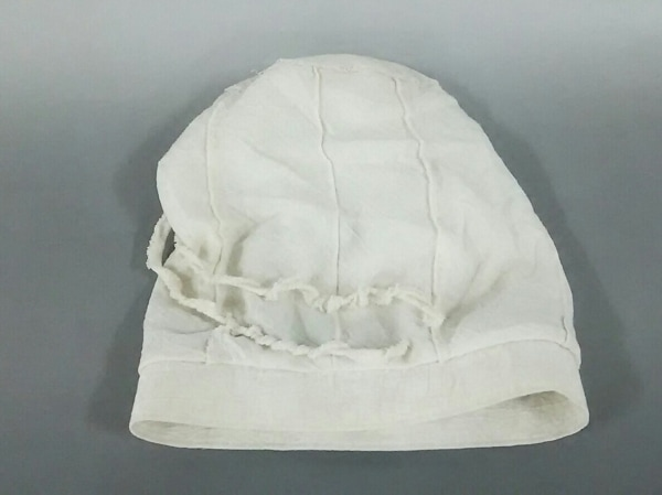 慈雨(ジウ/センソユニコ) 帽子 37美品  アイボリー コットン×麻×ポリノジック