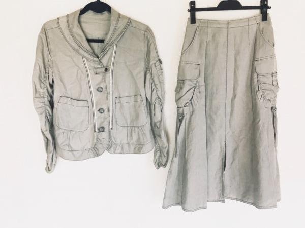 t.b(ティービー/センソユニコ) スカートスーツ サイズ38 M レディース ライトグレー