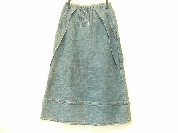 ティービー/センソユニコ ロングスカート サイズ38 M レディース美品  ブルー デニム