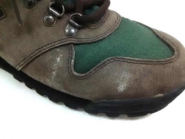 MERRELL(メレル) ショートブーツ メンズ グレー×グリーン ヌバック×化学繊維