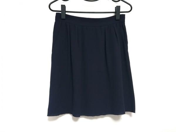 PRADA(プラダ) スカート レディース ネイビー シルク