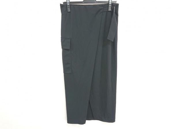 ポロラルフローレン 巻きスカート サイズSP S レディース美品  黒 ロング丈