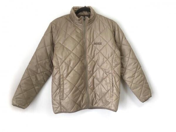 AIGLE(エーグル) ダウンジャケット サイズS メンズ ベージュ 冬物/キルティング