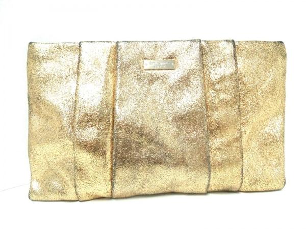 Kate spade(ケイトスペード) クラッチバッグ PXRU3884 ゴールド レザー