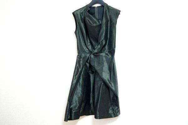 DES PRES(デプレ) ドレス サイズ1 S レディース美品  カーキ 光沢素材/ギャザー