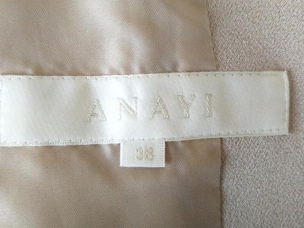 532ff7f31aeccf ... アナイ スカートスーツ サイズ38 M レディース ベージュ 光沢素材/肩パッド/リボン ...