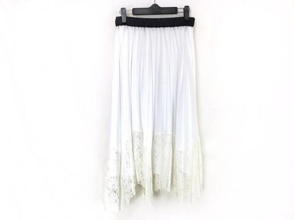 LOVELESS(ラブレス) ロングスカート サイズF レディース美品  白×黒×アイボリー