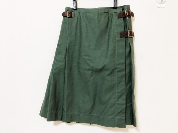 エンジニアードガーメンツ 巻きスカート サイズ1 S レディース 一部レザー/プリーツ