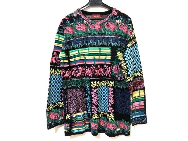 ケンゾー 長袖セーター サイズ2 M レディース グリーン×イエロー×マルチ 花柄