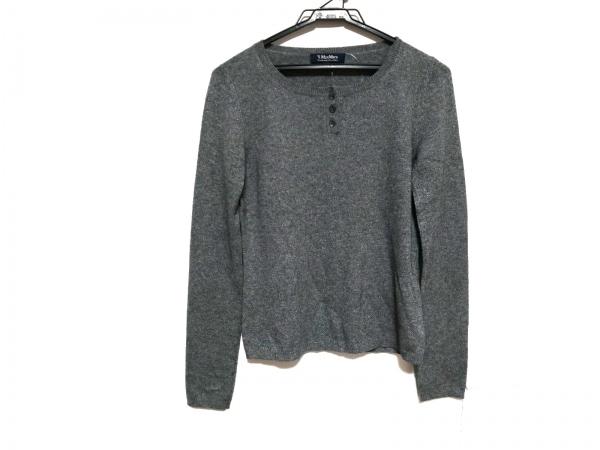 S Max Mara(マックスマーラ) 長袖セーター サイズM レディース美品  グレー