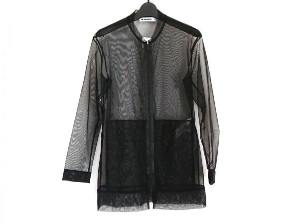 ジルサンダー ブルゾン サイズ34 XS レディース美品  黒 シースルー/春・秋物
