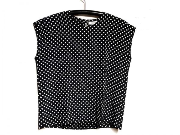 INGEBORG(インゲボルグ) 半袖カットソー レディース 黒×白 ドット柄
