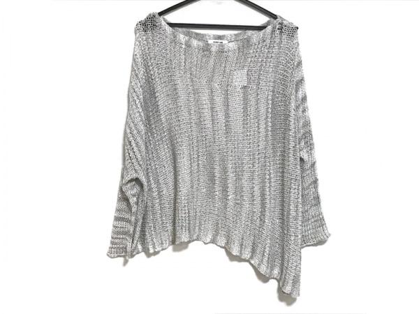 Helmut Lang(ヘルムートラング) 長袖セーター サイズS レディース美品  白×グレー