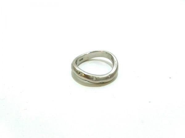 ノーブランド リング Pt900×ダイヤモンド クリア 総重量:6.8g/0.07刻印
