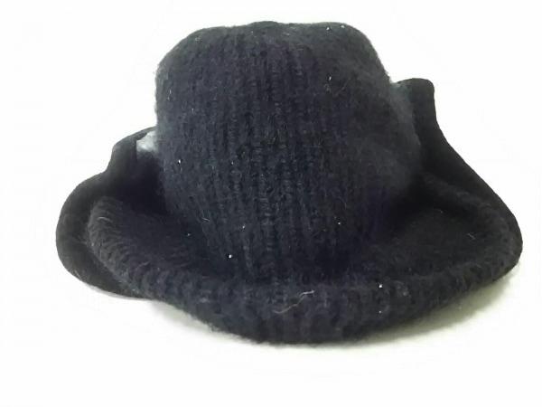 CA4LA(カシラ) 帽子 黒×マルチ PVC(塩化ビニール)×アクリル×モヘア×ウール