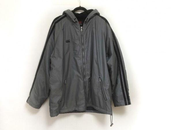 カンタベリーオブニュージーランド ブルゾン サイズXL メンズ美品  グレー×黒 冬物