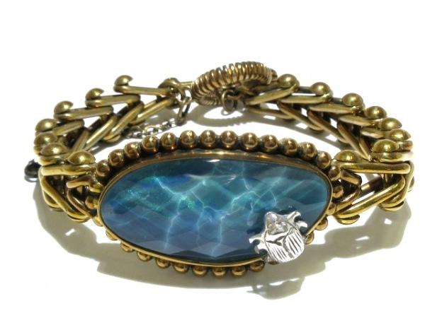 スティーブンデュエック ブレスレット 金属素材×カラーストーン ゴールド×ブルー