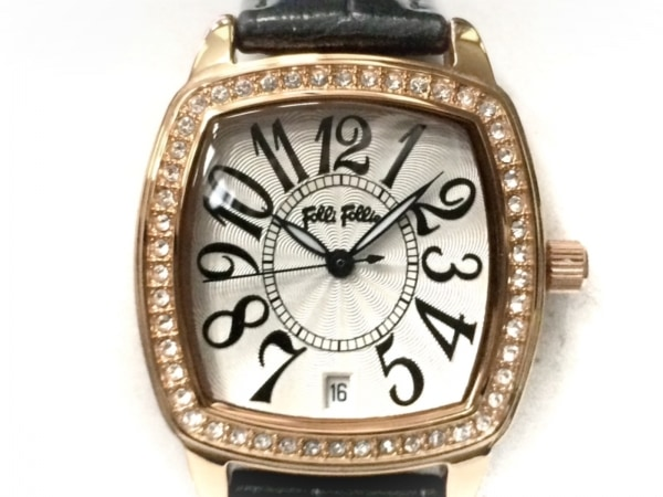 FolliFollie(フォリフォリ) 腕時計 WF14B020SD レディース 革ベルト シルバー