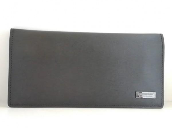 Burberry Black Label(バーバリーブラックレーベル) 長財布 黒 レザー